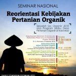 """Reorientasi Kebijakan Pertanian Organik, Sesudah """"Go Organik 2010"""" & """"Program Seribu Desa Pertanian Organik"""""""